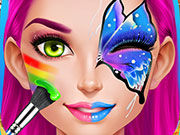 Face Paint Party Girls Salon
